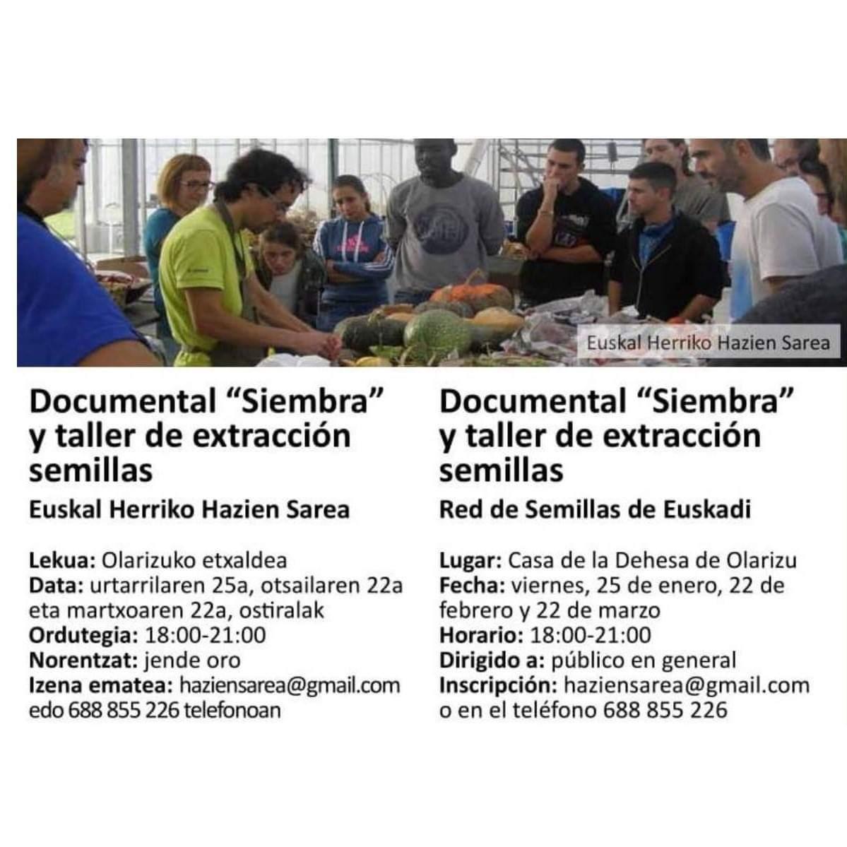 Documental Siembra y taller de extracción de semillas